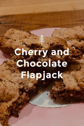 Cherry and Chocolate Flapjack