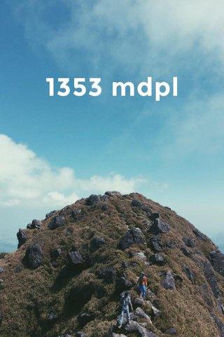 1353 mdpl