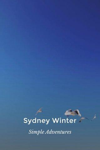 Sydney Winter Simple Adventures