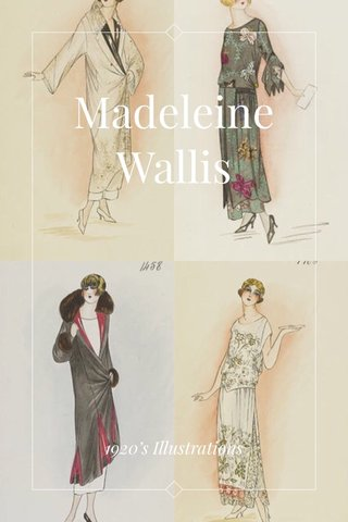 Madeleine Wallis 1920's Illustrations
