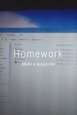 Homework Make a magazine