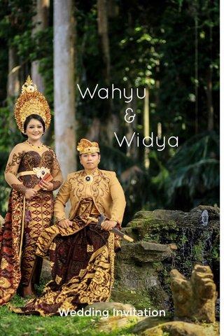 Wahyu & Widya Wedding Invitation