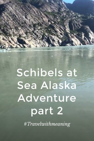 Schibels at Sea Alaska Adventure part 2 #Travelwithmeaning