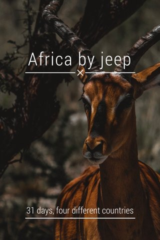 Africa by jeep 31 days, four different countries