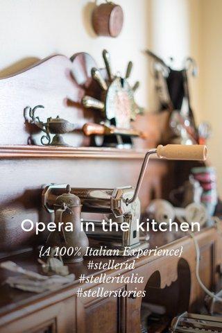 Opera in the kitchen {A 100% Italian Experience} #stellerid #stelleritalia #stellerstories