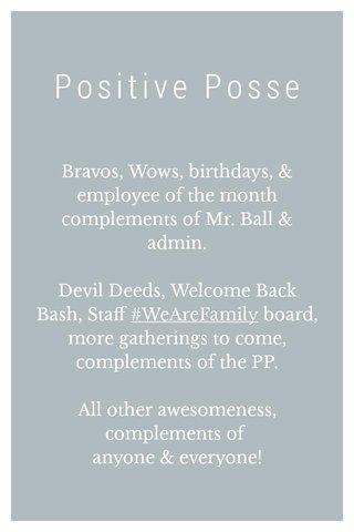 Positive Posse