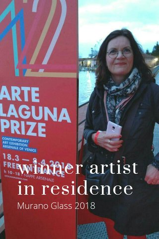 winner artist in residence Murano Glass 2018