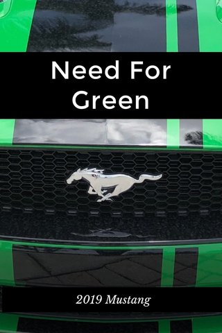 Need For Green 2019 Mustang