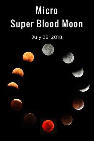 Micro Super Blood Moon July 28, 2018