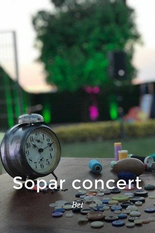 Sopar concert Bet