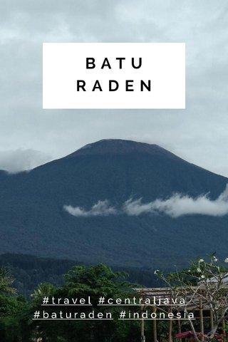 BATU RADEN #travel #centraljava #baturaden #indonesia