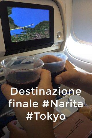 Destinazione finale #Narita #Tokyo