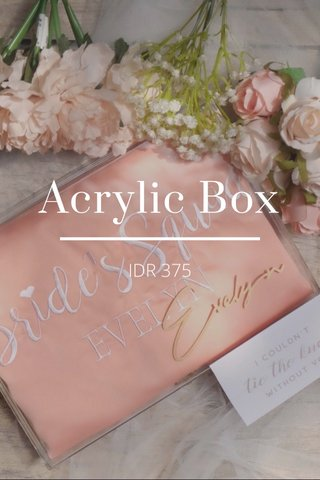 Acrylic Box IDR 375