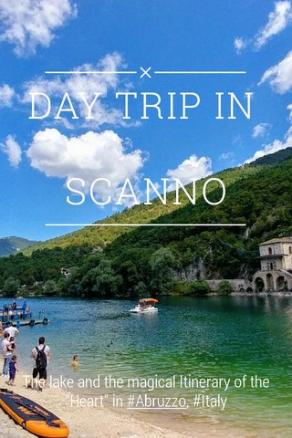 "DAY TRIP IN SCANNO The lake and the magical Itinerary of the ""Heart"" in #Abruzzo, #Italy"