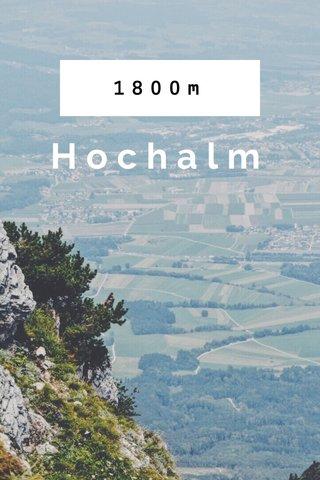 1800m Hochalm