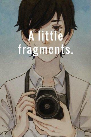 A little fragments.