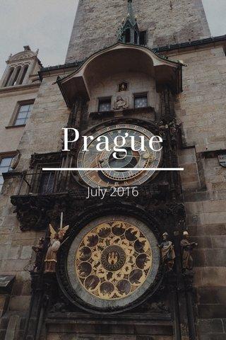 Prague July 2016