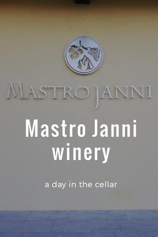 Mastro Janni winery a day in the cellar