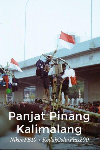 Panjat Pinang Kalimalang NikonFE10 + KodakColorPlus200