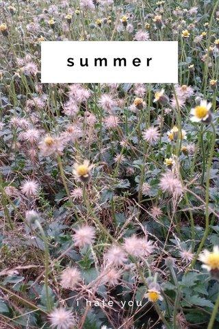 summer i hate you