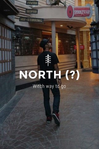 NORTH (?) Witch way to go