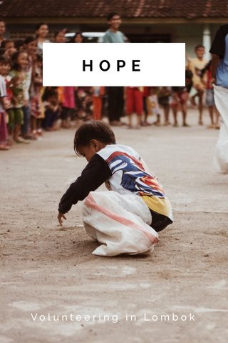 HOPE Volunteering in Lombok