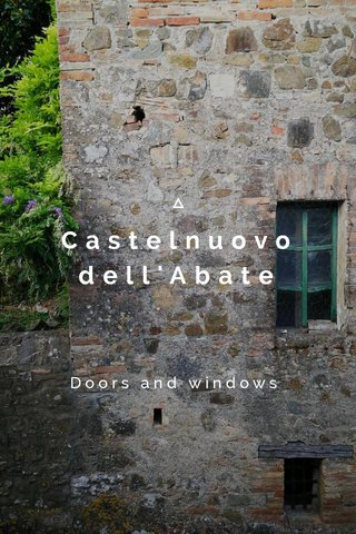 Castelnuovo dell'Abate Doors and windows