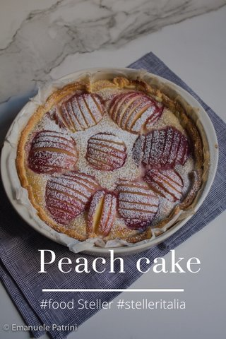 Peach cake #food Steller #stelleritalia