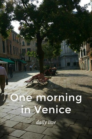 One morning in Venice daily live