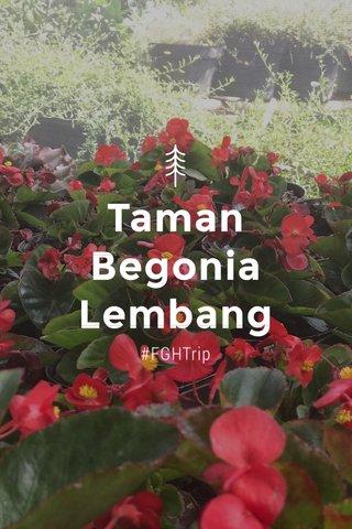 Taman Begonia Lembang #FGHTrip