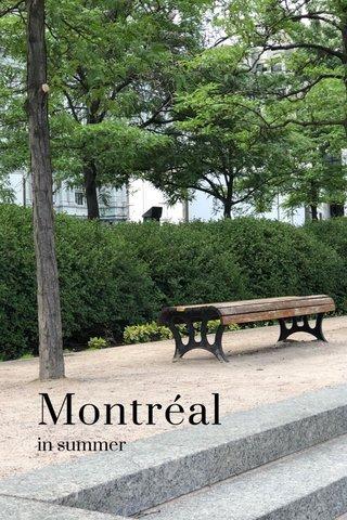 Montréal in summer