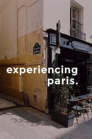 experiencing paris.