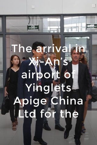 The arrival in Xi-An's airport of Yinglets Apige China Ltd for the conference.😀 L'arrivo di Yinglets Apige China Ltd all'aeroporto di Xi-an per la conferenza.😀