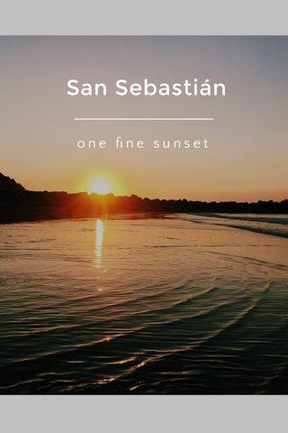 San Sebastián one fine sunset