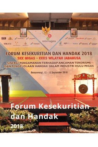 Forum Kesekuritian dan Handak 2018