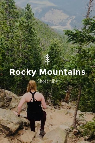 Rocky Mountains Short hike