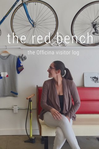 the red bench the Officina visitor log