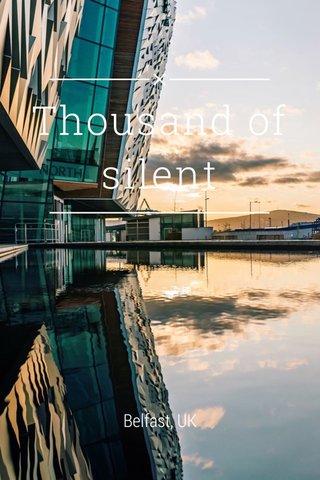 Thousand of silent Belfast, UK