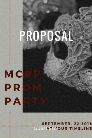 PROPOSAL Guest Star