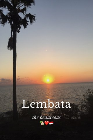 Lembata the beauteous 🏡❤️🇮🇩