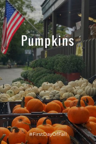 Pumpkins #FirstDayOfFall