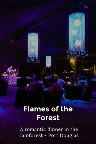 Flames of the Forest A romantic dinner in the rainforest - Port Douglas