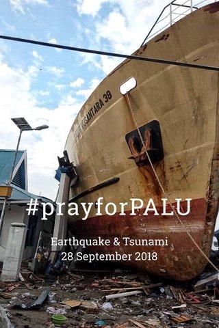 #prayforPALU Earthquake & Tsunami 28 September 2018