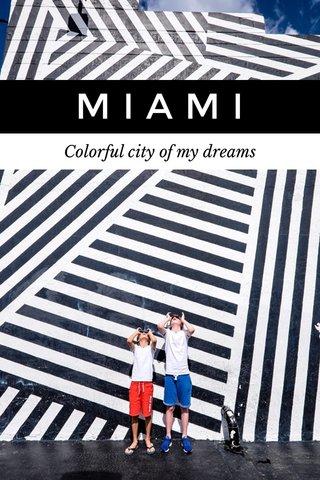 MIAMI Colorful city of my dreams