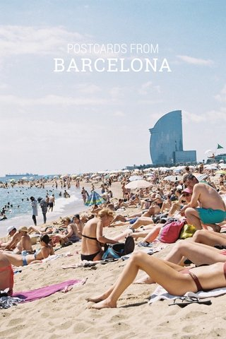 BARCELONA POSTCARDS FROM