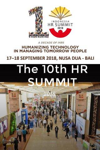 The 10th HR SUMMIT 2018