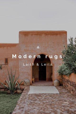 Modern rugs Laith & Leila