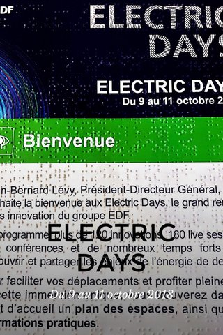 ELECTRIC DAYS Du 9 au 11 octobre 2018