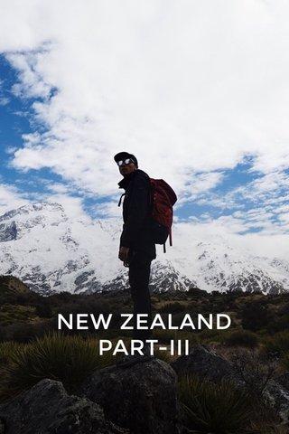 NEW ZEALAND PART-III