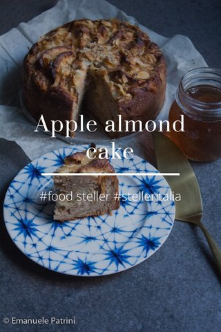 Apple almond cake #food steller #stelleritalia